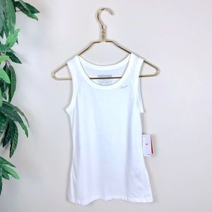 NWT • Nike • Fit Dry White Sports Tank Top.